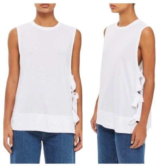 Topshop Tops - Topshop Boutique Side Tie Tank Top Size 6